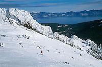 Skiing Alpine Meadows, Lake Tahoe, California