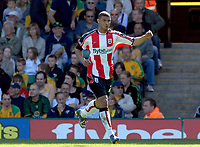 Photo: Ashley Pickering.<br /> Norwich City v Southampton. Coca Cola Championship. 28/04/2007.<br /> Leon Best celebrates scoring the only goal of the match for Southampton