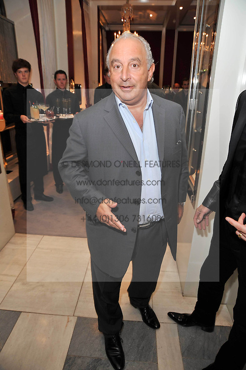SIR PHILIP GREEN at a party to launch the Georgina Chapman collection for Garrard held at Garrard, Albermarle Street, London on 4th November 2009.