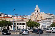 Lisbon, December 2012. Cityscape including the National Mausoleum and the Military Museum at Terreiro do Paço