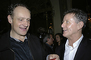 Charles Grand and David Jenkins, PARTY AFTER THE OPENING OF THE ANISH KAPOOR EXHIBITION AT THE LISSON GALLERY. Duchess Palace, 16 Mansfield St. London. W1. 10 October 2006. -DO NOT ARCHIVE-© Copyright Photograph by Dafydd Jones 66 Stockwell Park Rd. London SW9 0DA Tel 020 7733 0108 www.dafjones.com