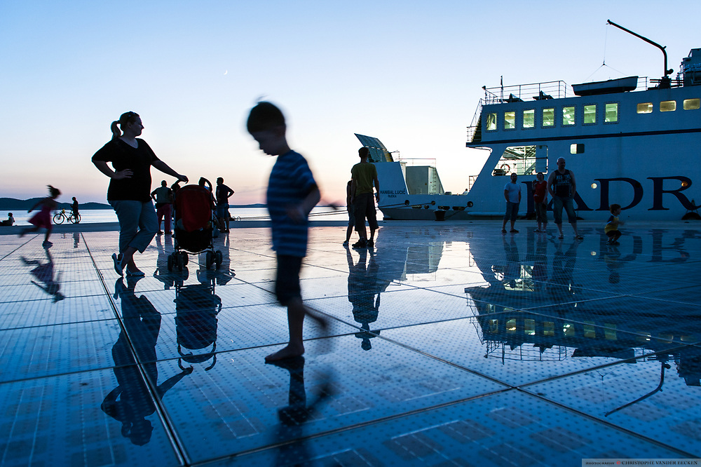 Croatia, Zadar, 14 jun 2010, monument to the sun