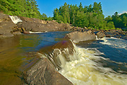 The North Branch of the Muskoka River at Wilson's Falls. Muskoka Country.<br />Bracebridge<br />Ontario<br />Canada