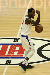 December 17, 2018 - Los Angeles, CA, U.S. - LOS ANGELES, CA - DECEMBER 17: Los Angeles Clippers Guard Patrick Beverley (21) signaling during the Portland Trail Blazers at Los Angeles Clippers NBA game on December 17, 2018 at Staples Center in Los Angeles, CA.. (Photo by Jevone Moore/Icon Sportswire) (Credit Image: © Jevone Moore/Icon SMI via ZUMA Press)