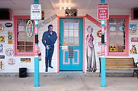 NostalgiaVilleUSA Storefront Facade, Kingdom City, Missouri