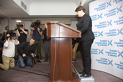 Ruth Davidson confirms her resignation as Scottish Tory leader at a press conference held at the Holyrood Hotel, Edinburgh. pic: Terry Murden @edinburghelitemedia