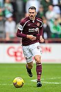 Michael Smith (#2) of Heart of Midlothian FC during the Cinch SPFL Premiership match between Heart of Midlothian and Hibernian at Tynecastle Park, Edinburgh, Scotland on 12 September 2021.