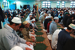 Muslims pray in mosque during Ramadan; Bradford; Yorkshire UK
