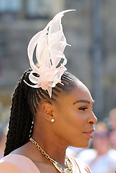 Serena Williams arrives at St George's Chapel at Windsor Castle for the wedding of Meghan Markle and Prince Harry.