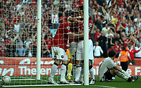 Photo: Paul Thomas.<br /> Watford v Manchester United. The FA Cup, Semi Final. 14/04/2007.<br /> <br /> Wayne Rooney (L) and Man Utd celebrate his goal.