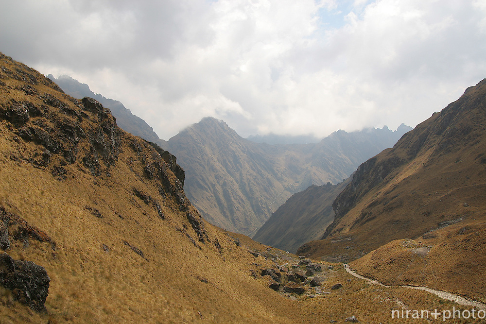 View from the highest point on the 4-day hike of the ancient Inca Trail