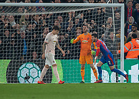 Football - 2018 / 2019 Premier League - Crystal Palace vs. Manchester United<br /> <br /> Joel Ward (Crystal Palace) turns away after scoring for his team at Selhurst Park.<br /> <br /> COLORSPORT/DANIEL BEARHAM