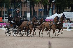 De Ronde Koos, NED, Alino, Cupido, Palero, Ulano, Zimon<br /> FEI European Driving Championships - Goteborg 2017 <br /> © Hippo Foto - Stefan Lafrenz