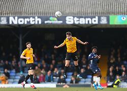 Luke Leahy of Bristol Rovers wins a header - Mandatory by-line: Arron Gent/JMP - 07/03/2020 - FOOTBALL - Roots Hall - Southend-on-Sea, England - Southend United v Bristol Rovers - Sky Bet League One