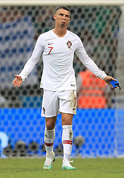Portugal's Cristiano Ronaldo dejected after the game