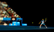 Rafael Nadal of Spain in action during the Australian Open Tennis Grand Slam January 26, 2009 in Melbourne. Photo by Victor Fraile