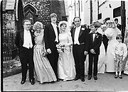 CRISPIN ODEY; PRU MURDOCH; RUPERT MURDOCH, Wedding of Pru Murdoch and Crispin Odey. CHESTER SQ. . London. 24 May 1985. SUPPLIED FOR ONE-TIME USE ONLY> DO NOT ARCHIVE. © Copyright Photograph by Dafydd Jones 248 Clapham Rd.  London SW90PZ Tel 020 7820 0771 www.dafjones.com