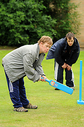 Young man with learning disabilities plays cricket; as part of a Sport Ability Day North Yorkshire,