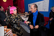 ZANDRA RHODES; DAVID SASSOON;   My favorite dress book launch hosted by Susy Menkes and Zandra Rhodes. Fashion Museum. London. In Support of Save the Children. 11 January 2010
