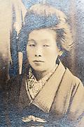 adult woman wearing a kimono Japan ca 1930s