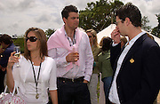 Saskia Boxford, Harry Simpson ( tall)  and Theo Osborne, Cartier Style Et Luxe, Goodwood, 27 June 2004. SUPPLIED FOR ONE-TIME USE ONLY-DO NOT ARCHIVE. © Copyright Photograph by Dafydd Jones 66 Stockwell Park Rd. London SW9 0DA Tel 020 7733 0108 www.dafjones.com