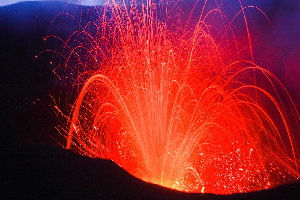 Mount Yasur erupting, Tanna Island, Vanuatu