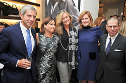 Left to right, SIR STUART ROSE, ALEXANDRA SHULMAN editor of Vogue, Angela Ahrendts Chief executive of Burberry, SARAH BROWN wife of Prime Minister Gordon Brown and JONATHAN NEWHOUSE at a reception hosted by Vogue and Burberry to celebrate the launch of Fashions Night Out - held at Burberry, 21-23 Bond Street, London on 10th September 2009.