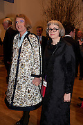 GRAYSON PERRY; PHILLIPA PERRY, Opening of David Hockney ' A Bigger Picture' Royal Academy. Piccadilly. London. 17 January 2012