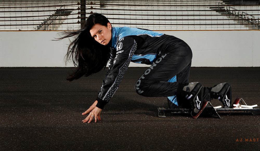 16 May 2007: IRL Driver Danica Patrick poses for a portrait at the Indianapolis Motor Speedway in Indianapolis.