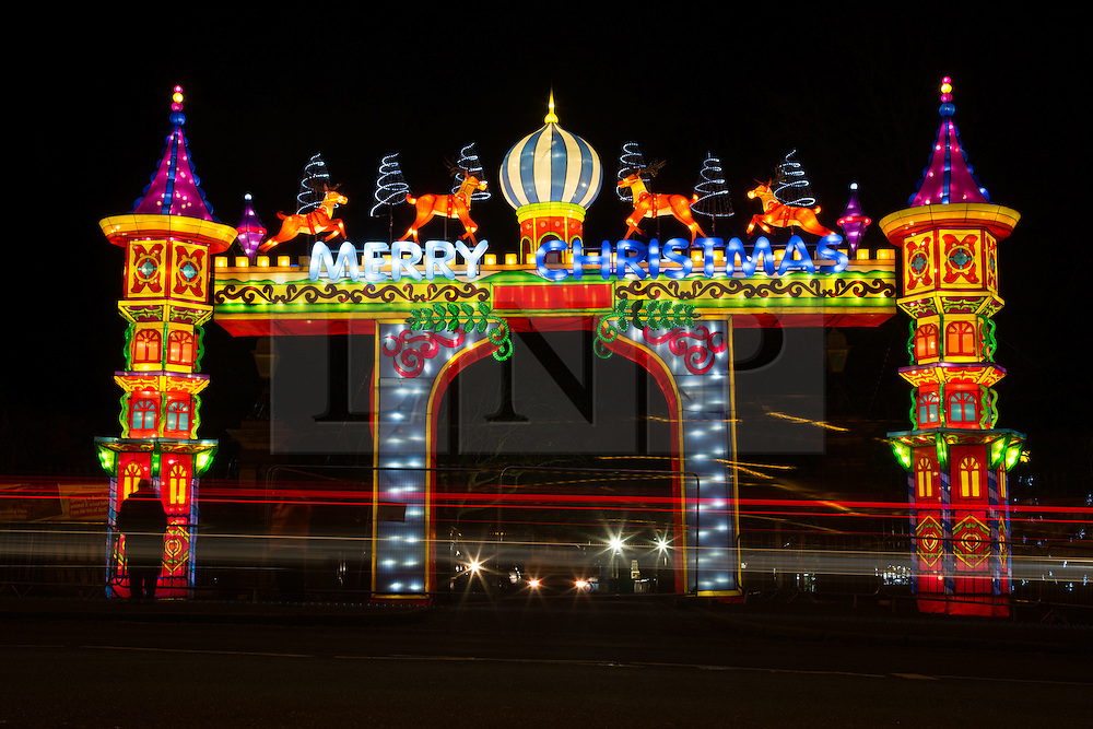 © Licensed to London News Pictures. 24/11/2016. Leeds, UK. The Magical Chinese Lantern Festival opens at Roundhay Park in Leeds, West Yorkshire. 40,000 light bulbs were used to create more than 30 giant handmade lantern displays and the event has been shortlisted for four awards in the upcoming Event Awards. Photo credit : Ian Hinchliffe/LNP