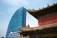 Mongolie, Ulaan Batar (Oulan Bator), Monastere de Choijin Lama et la tour the blue sky // Mongolia, Ulaan Batar, Choijin Lama Monastery and The Blue Sky tower