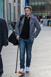 © Licensed to London News Pictures. 10/01/2020. London, UK. Former police officer, Richard Williams leaves Southward Crown Court in London after receiving a two year suspended sentence after being convicted of fraud. Richard Williams, formerly based at Barking and Dagenham was found guilty after a trial of seven counts of fraud by false representation forgery relating to forged medical fitness for work certificates.  Photo credit: Vickie Flores/LNP