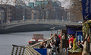 The Liffey Boardwalk and Ha'penny Bridge, Dublin