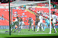 GOAL! Christopher Swailes of Morpeth Town AFC scores to make it 1-1 during the FA Vase match between Hereford FC and Morpeth Town at Wembley Stadium, London, England on 22 May 2016. Photo by Mike Sheridan.