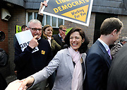 Miriam González Durántez  wife of the Leader of the Liberal Democrats Nick Clegg campaigns  in South London.