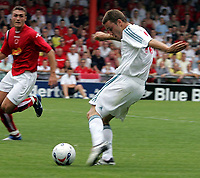 Photo: Paul Thomas.<br /> Crewe Alexandra v Liverpool. Pre Season Friendly. 22/07/2006.<br /> <br /> Fabio Aurelio in action for Liverpool.