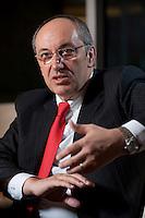26 FEB 2009, BERLIN/GERMANY:<br /> Joel Saveuse, Chef der Metro-SB-Warenhaustocher real und metro Vorstandsmitglied, waehrend einem Interview, nach der Preisverleihung des Best of European Business Awards, Franzoesische Botschaft<br /> IMAGE: 20090226-04-021