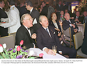 Jocelyn Stevens & the Duke of Marlborough Conrad Black Election night party. Savoy. 10 April '91. Film 92297f10<br />© Copyright Photograph by Dafydd Jones<br />66 Stockwell Park Rd. London SW9 0DA<br />Tel 0171 733 0108