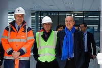 Dominique Fondacci / Jean Louis Triaud / Alain Juppe - 23.03.2015 - Visite du Stade de Bordeaux -<br /> Photo : Caroline Blumberg / Icon Sport *** Local Caption ***