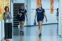19-10-2018 JPN: Semi Final World Championship Volleyball Women day 20, Yokohama<br /> Serbia - Netherlands / Nicole Oude Luttikhuis #17 of Netherlands, Juliet Lohuis #7 of Netherlands