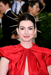 Anne Hathaway attending the Metropolitan Museum of Art Costume Institute Benefit Gala 2018 in New York, USA.