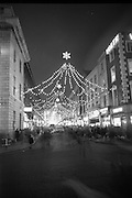 Christmas lights and decorations, O'Connell Street and Henry Street, Dublin.<br /> 14.12.1967
