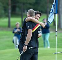 HILVERSUM - Germany wins the final from Sweden (2-1) . Marc Hammer , Nick Bachem,     ELTK Golf 2020 The Dutch Golf Federation (NGF), The European Golf Federation (EGA) and the Hilversumsche Golf Club will organize Team European Championships for men.  COPYRIGHT KOEN SUYK
