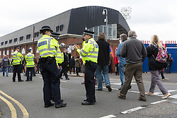© Licensed to London News Pictures. 16/09/2017. LONDON, UK.  Police officers outside Crystal Palace Football Club in London today.  Following the Parsons Green terror attack yesterday, additional police and visible security are being implemented, as the Prime Minister, Theresa May raised the Terror threat to critical. Photo credit: Vickie Flores/LNP