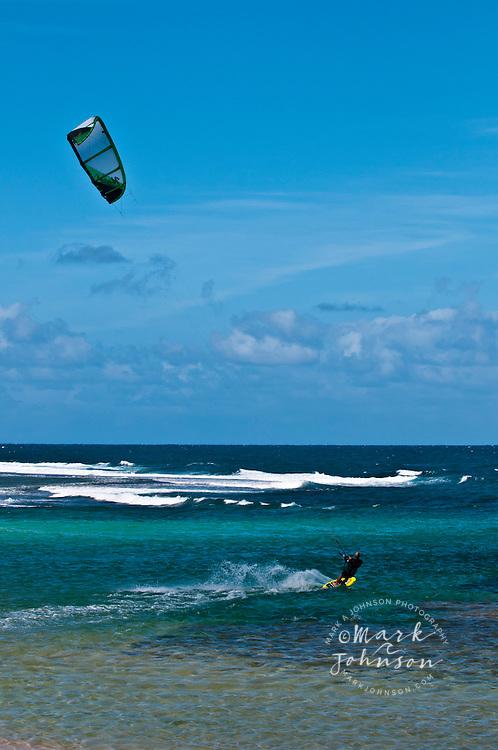 Kitesurfing, Kauai, Hawaii