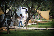 Badia Del Casale is located within a charming olive grove on a little hill overlooking the crystal waters of Puglia's Torre San Giovanni. The old-age history of this accommodation and its ideal location is a perfect combination of cultural holiday, nature experience and an intimate and relaxing family get-a-way. A warm welcome awaits guests in this up-cycled and restored B&B, where rustic charm and stylish minamilism co-exist in harmony.