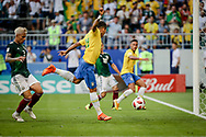Roberto Firmino of Brazil scores the 2-0 goal during the 2018 FIFA World Cup Russia, round of 16 football match between Brazil and Mexico on July 2, 2018 at Samara Arena in Samara, Russia - Photo Thiago Bernardes / FramePhoto / ProSportsImages / DPPI