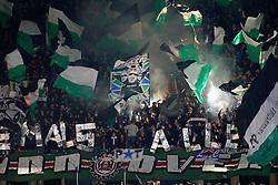 20.10.2011, AWD-Arena, Hannover, GER, UEFA EL,Gruppe B, Hannover 96 (GER) vs FC Kopenhagen (DEN), im Bild jubel im Hannoveraner Fanblock .// during UEFA Europa League group B match between Hannover 96 (GER) and FC Kopenhagen (DEN) at AWD-Arena Stadium, Hannover, Germany on 20/10/2011.  EXPA Pictures © 2011, PhotoCredit: EXPA/ nph/  Schrader       ****** out of GER / CRO  / BEL ******