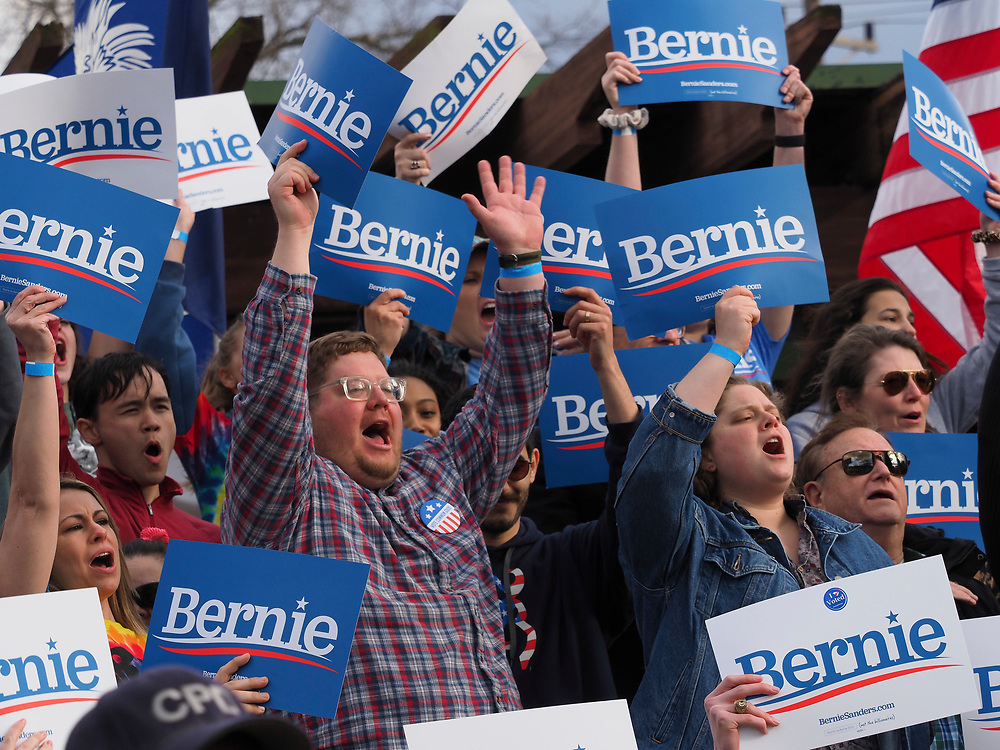 Presidential candidate Bernie Sanders supporters come together for his final South Carolina rally before the February 29 primary vote.