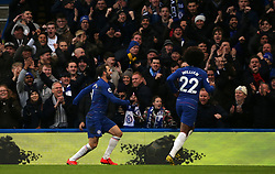 Chelsea's Gonzalo Higuain (left) celebrates scoring his side's first goal of the game